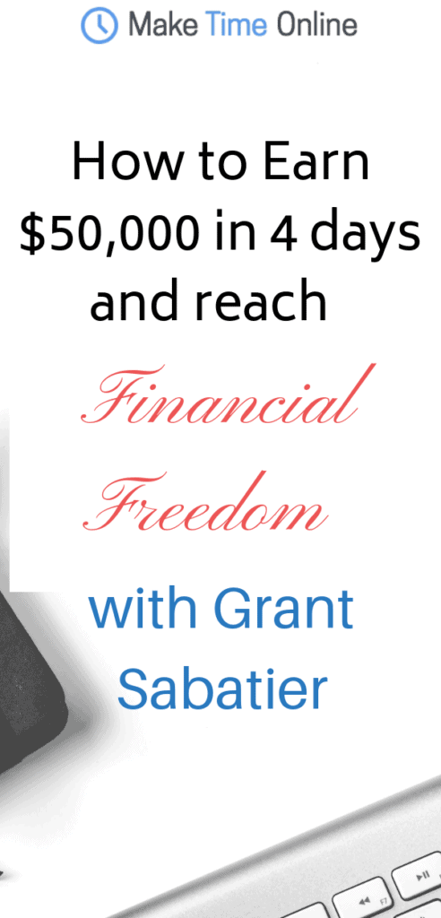 financial freedom with grant sabatier