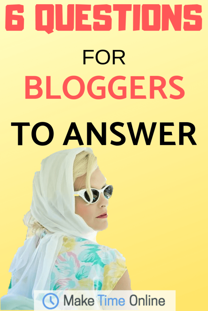 questions for bloggers to answer
