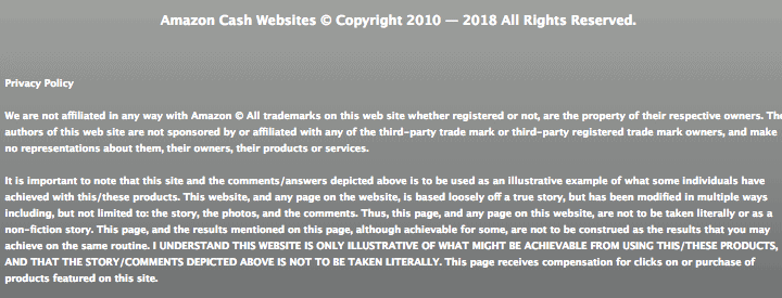 Money Sucking Websites Review disclaimer