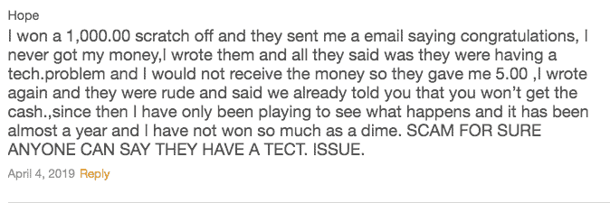 Lucky Day App Scam