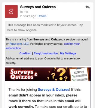 Survey Voices emails