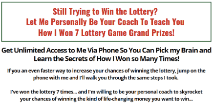 Lottery Winner University Coaching call