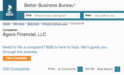 Agora Financial BBB Rating