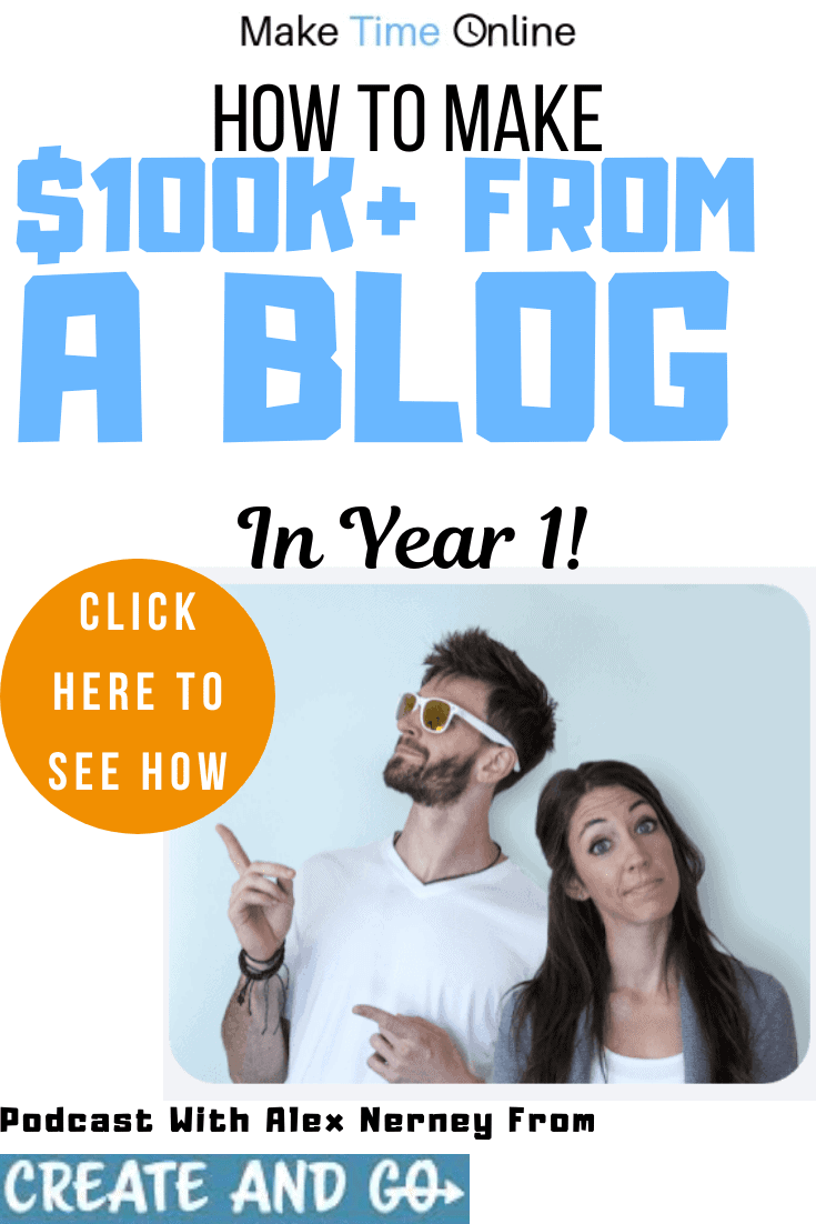 How to make $100k from a blog in year 1