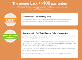 Affilorama money back guarantee