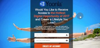 Yoonla Landing Page
