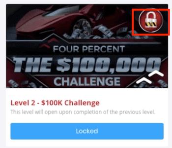 Four Percent Challenge Locked