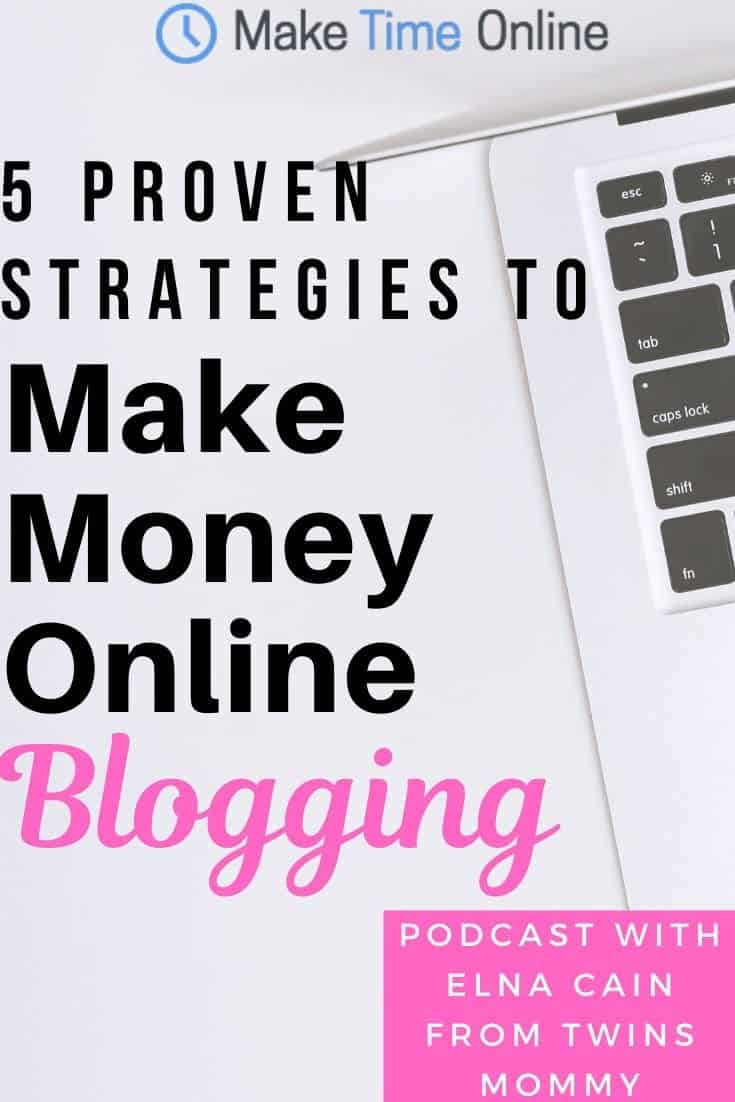5 Proven Strategies to Make Money Online Blogging- Elna Cain
