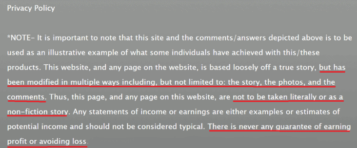 Cash Website Success Privacy Policy