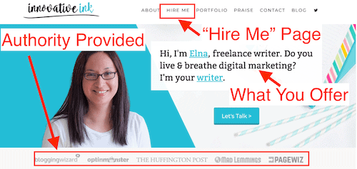 Freelance hire me page- Make $1,000 a month online