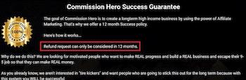 Commission Hero Money Back