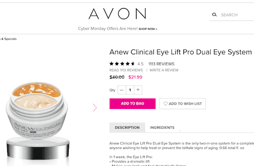 Avon similar products