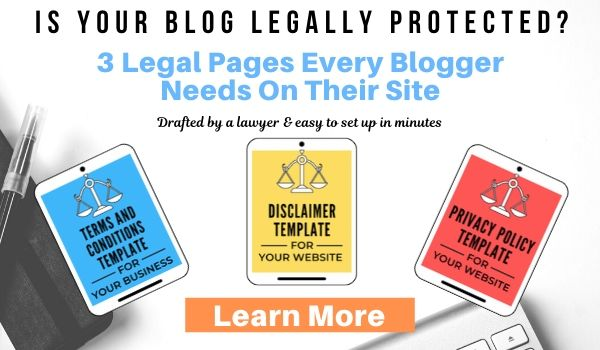 blogging legal pages legal bundle