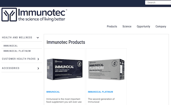 Immunotec scam website