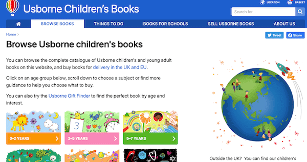 Usborne Books MLM website