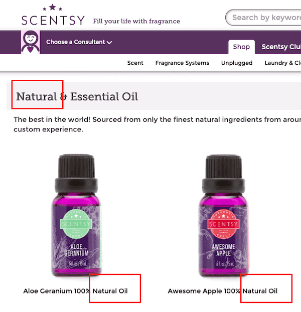 Scentsy essential oil