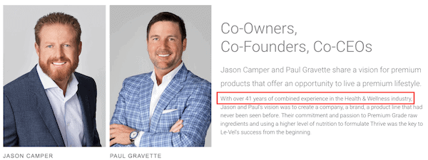 Le-Vel Thrive Founders