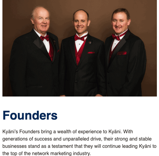 Founders- Is Kyani a  pyramid scheme?