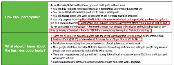 Can you make money selling Herbalife