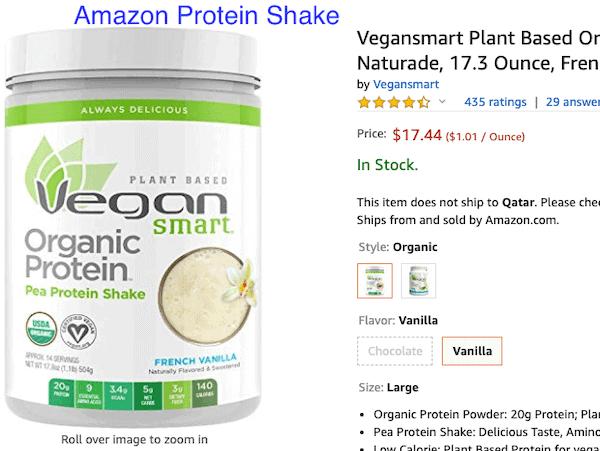 Amazon Protein Shake