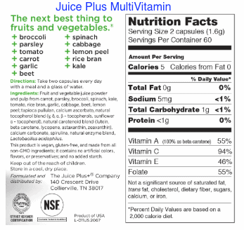 Juice plus nutrition facts-min