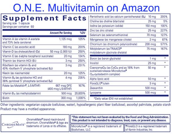 O.N.E Multivitamin nutrition Amazon-min