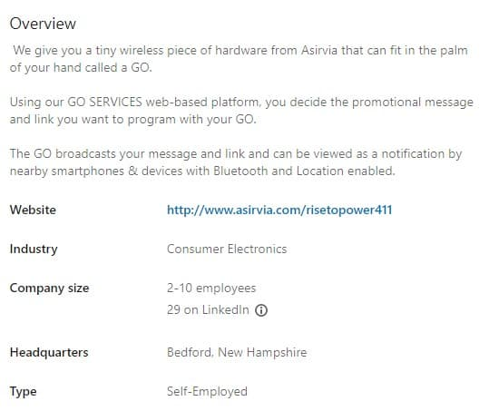 Is Asirvia a Scam: LinkedIn 2