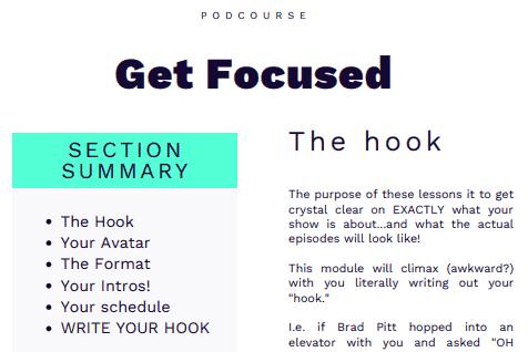 Podcourse review- Workbook