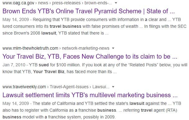 Your Travel Biz Review: Cons