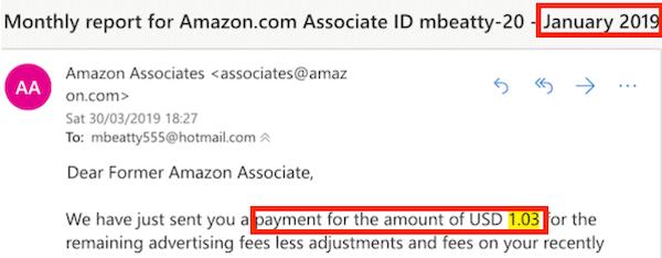 Amazon Associates Income