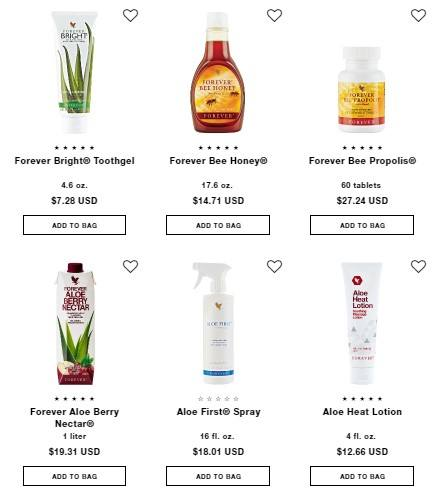 Forever Living MLM Review: Products