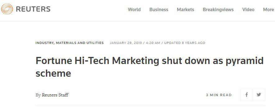 Is Fortune Hi-tech Marketing a Scam: Cons