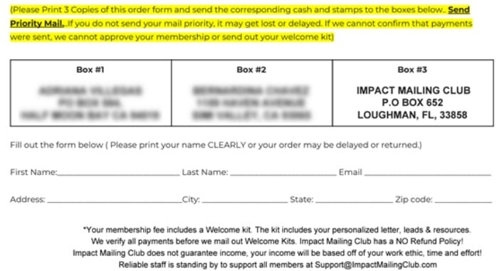 Is Impact Mailing Club a Scam: Flagship