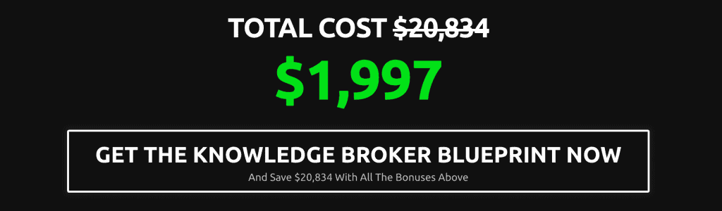 Is Knowledge Broker Blueprint a Scam: Cost
