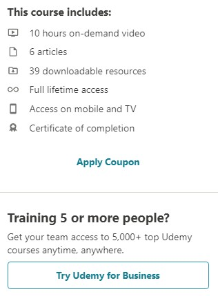Udemy Affiliate Marketing in One Day Review: Cons