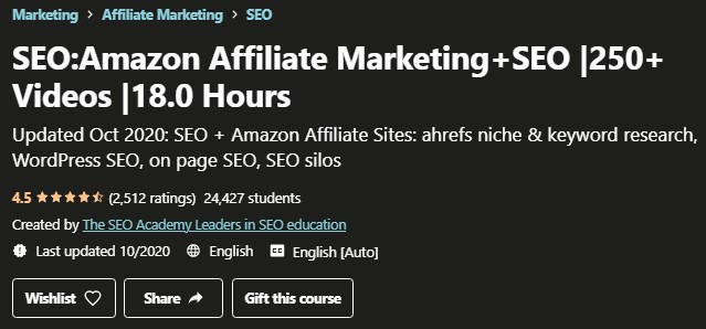Amazon Affiliate Marketing + SEO Review: Intro