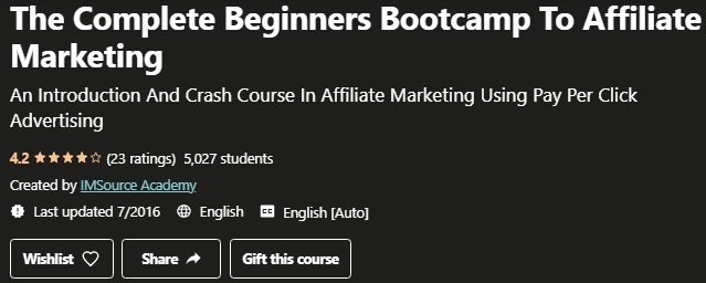 Complete Beginners Bootcamp to Affiliate Marketing Review: Intro