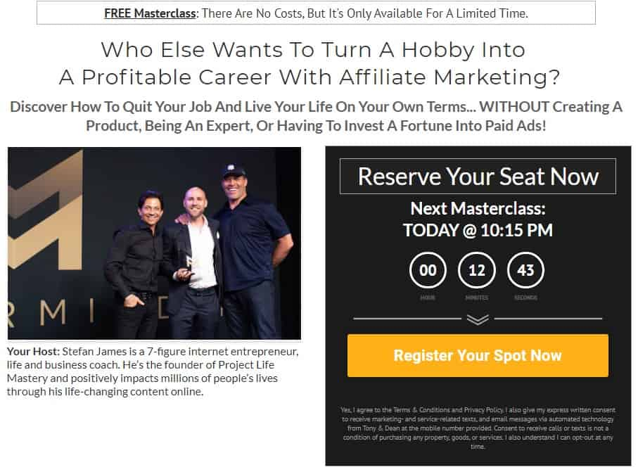 Stefan James Affiliate Marketing Mastery Review: Intro