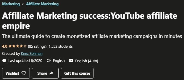 Udemy YouTube Affiliate Empire Review: Intro