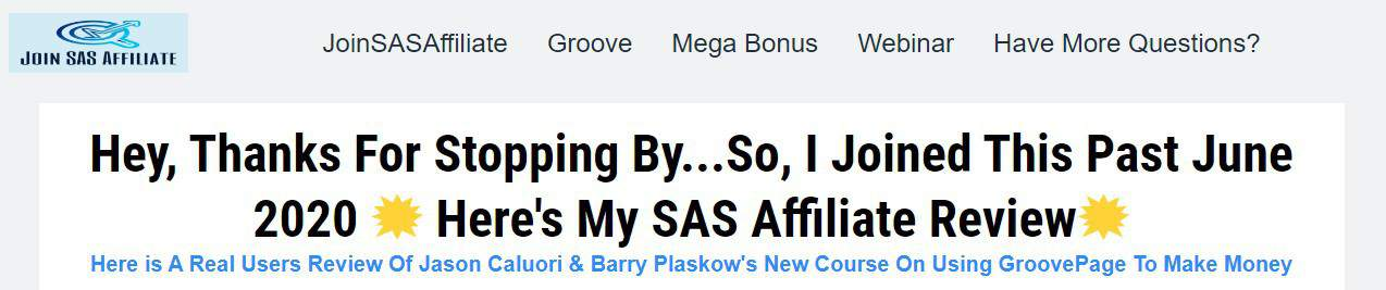 Is SAS Affiliate a Scam: Intro