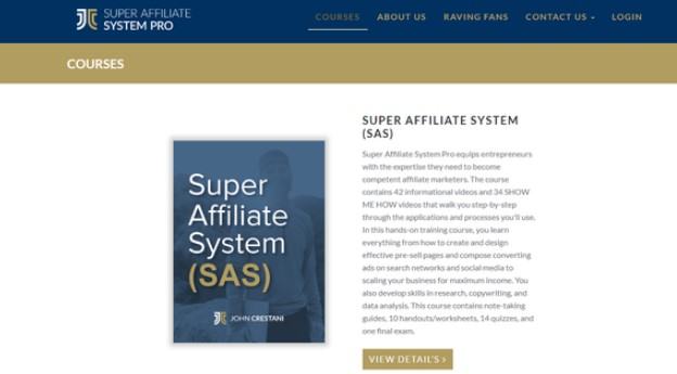 Is SAS Affiliate a Scam: Pros 2