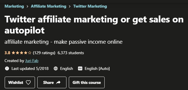 Is Udemy's Twitter Affiliate Marketing or Get Sales on Autopilot Scam: Intro