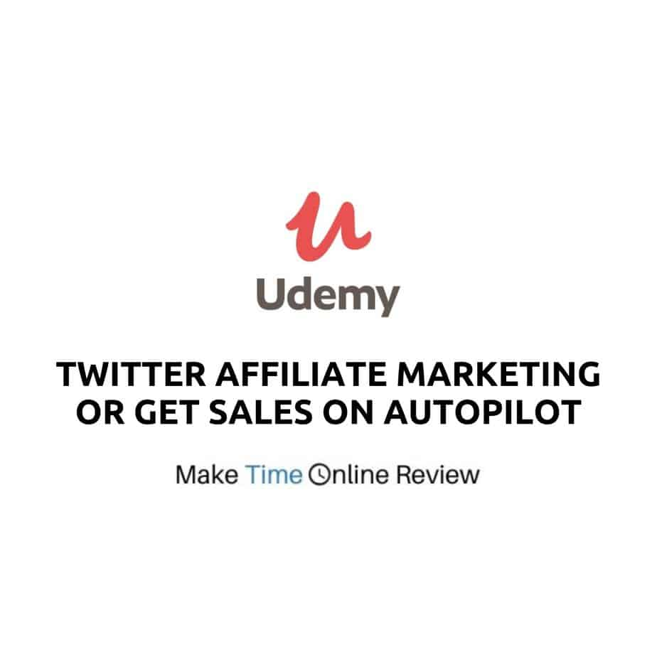 Is Udemy's Twitter Affiliate Marketing or Get Sales on Autopilot Scam: Logo