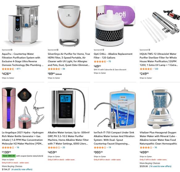 Amazon Water Ionizers