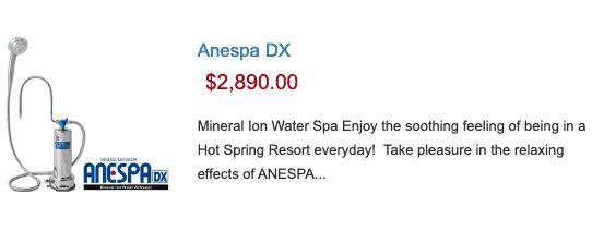 Anespa DX- $2,890