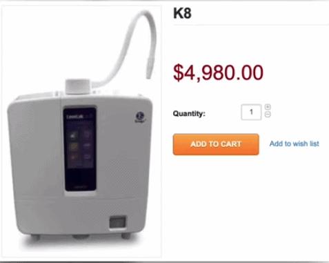 Enagic K8 Machine Pricing